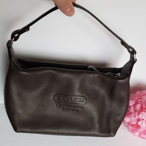 🌸Coach Leatherwear🌸 Small Chocolate Baguette Bag
